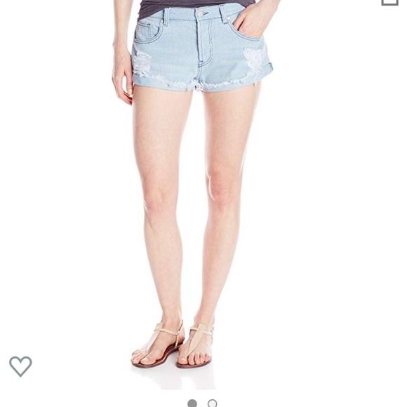 MINKPINK Pants - MINKPINK denim shorts